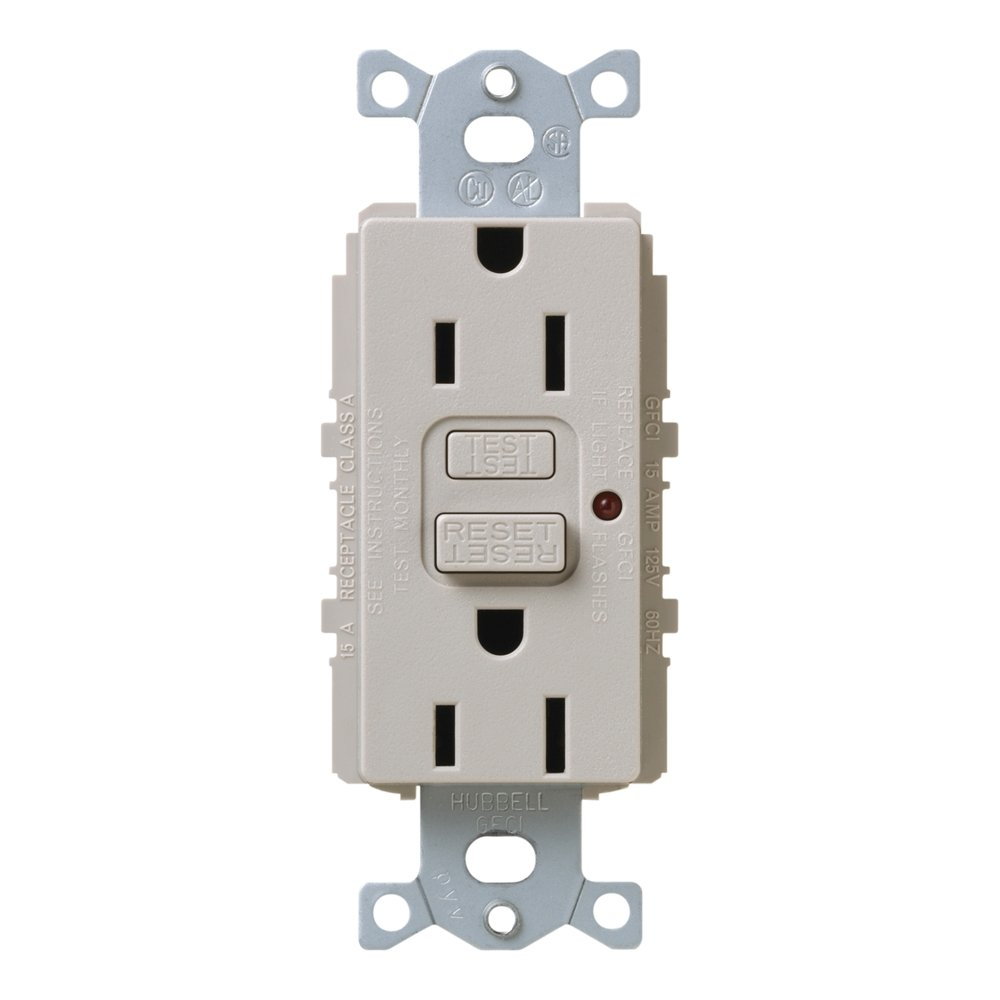 Lutron SCR-15-GFTR-TP Satin Colors 15A GFTR Electrical Socket Receptacle, Taupe