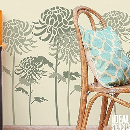 Chrysanthemum Flower Stencil | Home Decorating Art & Craft