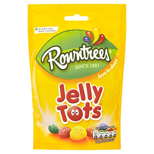 Original Rowntrees Jelly Tots Sweets Bag Pouch Imported From The UK England-Rowntrees Jelly Tots, 150 g