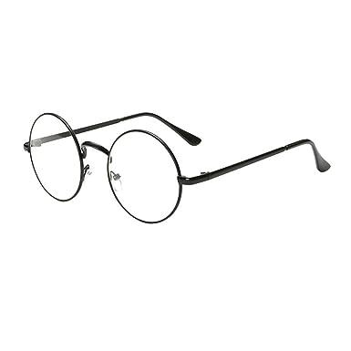 design senza tempo 1f2ed c6c41 Heheja Donna Uomo Vintage Tondi Occhiali da Vista Unisex Metallo Montatura  Eyewear