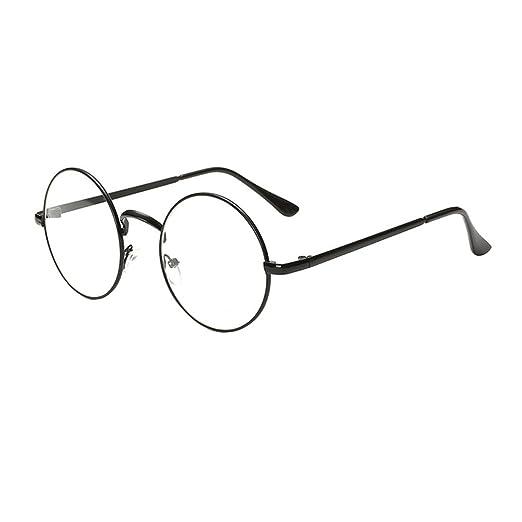 Heheja Donna Uomo Vintage Tondi Occhiali da Vista Unisex Metallo Montatura Eyewear No2 nlv3vq
