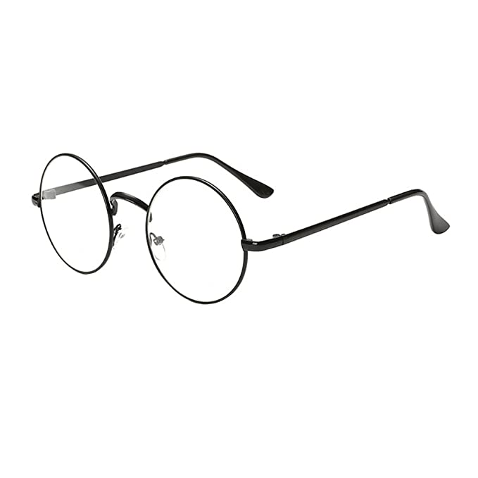 design senza tempo d2e2c 83697 Heheja Donna Uomo Vintage Tondi Occhiali da Vista Unisex Metallo Montatura  Eyewear