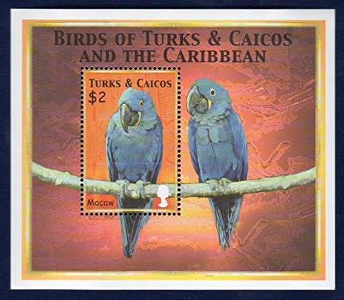 Birds of The Caribbean (Macaw) S/S of 1 Stamp x $2 - Turks & Caicos - Turks And Caicos Birds