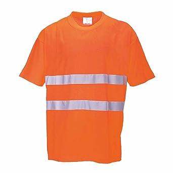 Portwest S172ORRXS - Camiseta (algodón, talla XS), color naranja: Amazon.es: Industria, empresas y ciencia