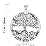 Wiccan Twisted Tree of Life Amulet Sterling Silver Pendant