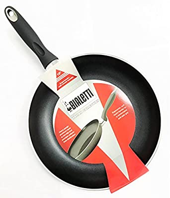 Bialetti 10 Inch Frying Pan DISHWASHER SAFE NON-STICK Cook `n Pour design Skillet HEAVY GAUGE Bottom Made in ITALY