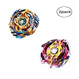 WenJie [2 Pack] Beyblade Burst - Personally Assemble to Improve Your Child's Manual Ability - Stamina Type - 2 X Combat Combination ( 2 Beyblade + 2 Launcher ) - b79+b86