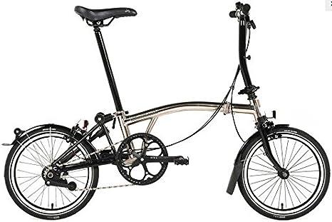 Brompton S6L - Bicicleta plegable de níquel 2017: Amazon.es ...