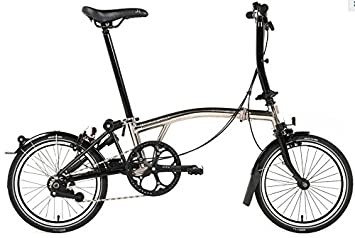 Brompton S6L - Bicicleta plegable de níquel 2017