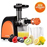 Slow Masticating Juicer,Cold Press Juicer Machine[2018 Upgraded] with Juice Jug and Brush to Clean Conveniently,More high Quality and Quiet Motor Juicer Machine for all Fruits and Vegetables