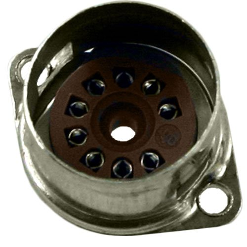 9 Pin Belton Micalex Vacuum Tube Socket with Shield Base, .75