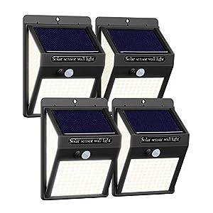 4Pack Solar Light Outdoor [220LED/3 Modes] Outdoor Solar Lights Motion Sensor Light Outdoor IP65 Waterproof 270º Wide…