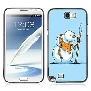 Designer Depo Hard Protection Case for Samsung Galaxy Note 2 N7100 / Snowman Warrior
