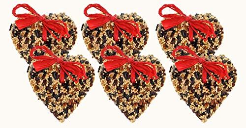 6-Pack of Mr. Bird LittleHeart Wild Bird Seed 4 oz. (Bird Seed Christmas Ornaments)