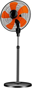 Oscillating Pedestal Fan,6-Speeds Adjustable Height Powerful 18″ Stand Floor Fan,for Homes Offices and Bedrooms Shop Factory