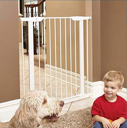 ALLAIBB Walk Thru Metal Baby Gate Pressure Mount Kit Auto Close Child Safety Gate Size 81.89''-84.65'' (White) by ALLAIBB (Image #6)