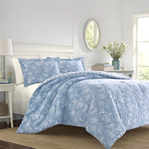 Laura Ashley Walled Garden Comforter Set, King, Blue