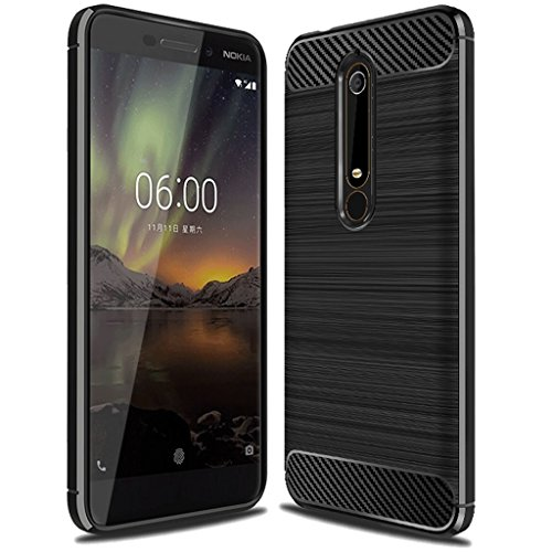 "Nokia 6 2018 Case, (Not for ""Nokia 6""), Sucnakp TPU Shock Absorption Technology Raised Bezels Protective Case Cover for Nokia 6 2018 smartphone (Black)"