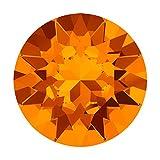 Swarovski Crystal, 1088 Xirius Round Stone Chatons ss39, 6 Pieces, Tangerine F