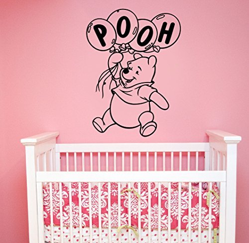 Winnie The Pooh Wall Sticker Vinyl Decal Disney Cartoon Art Decorations for Home Kids Boys Room Bedroom Nursery Decor (Disney Winnie The Pooh Wall Hanging)