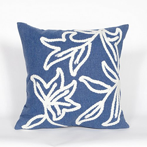 (Liora Manne 7SA2S307603 Visions I Casual Stitched Leaf Windsor Indoor/Outdoor Pillow 20