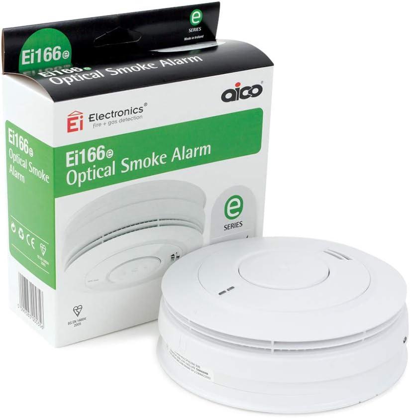 Upgraded Ei166e AICO 10 an Batterie au lithium détecteur de fumée Ei3016 date d/'expiration 2030