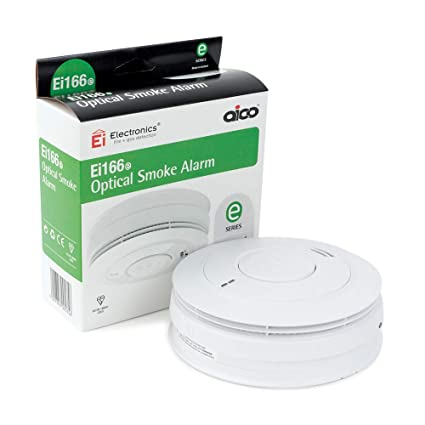 Aico Ei166e - Alarma de Humo óptico con batería de Litio Recargable, Base Easi Fit