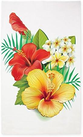 CafePress Tropical Hibiscus 3'X5' Decorative Area Rug