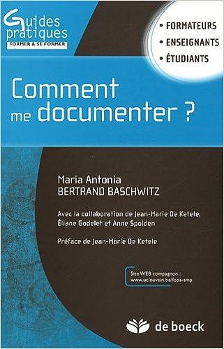 Lire Comment me documenter ? pdf epub