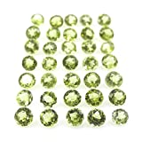 Light Green Natural Chinese Peridot AAA Quality 1.5 mm Brilliant Cut Round Loose gemstone
