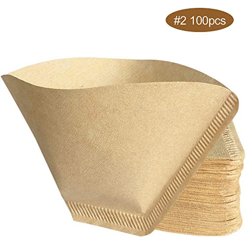 - YDIOLM 100pcs Good Grips Unbleached All-Natural Brown #2 Cone Coffee Filters (#2 Paper Filters 100pcs)