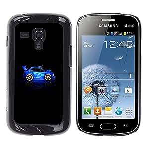 For Samsung Galaxy S Duos / S7562 Case , Car Blue Black Racing Drive Rally - Diseño Patrón Teléfono Caso Cubierta Case Bumper Duro Protección Case Cover Funda