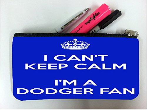 Los Dodgers Pencil Angeles (I Can't Keep Calm I am a Dodger FaI Student Pen Pencil Case Coin Purse Pouch Cosmetic Makeup Bag)