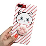 Cute Cartoon 3D Cat Claw Case for iPhone 7 6 6s Plus Pink Cat Silicone Cover Soft,Pink,for iphone 7