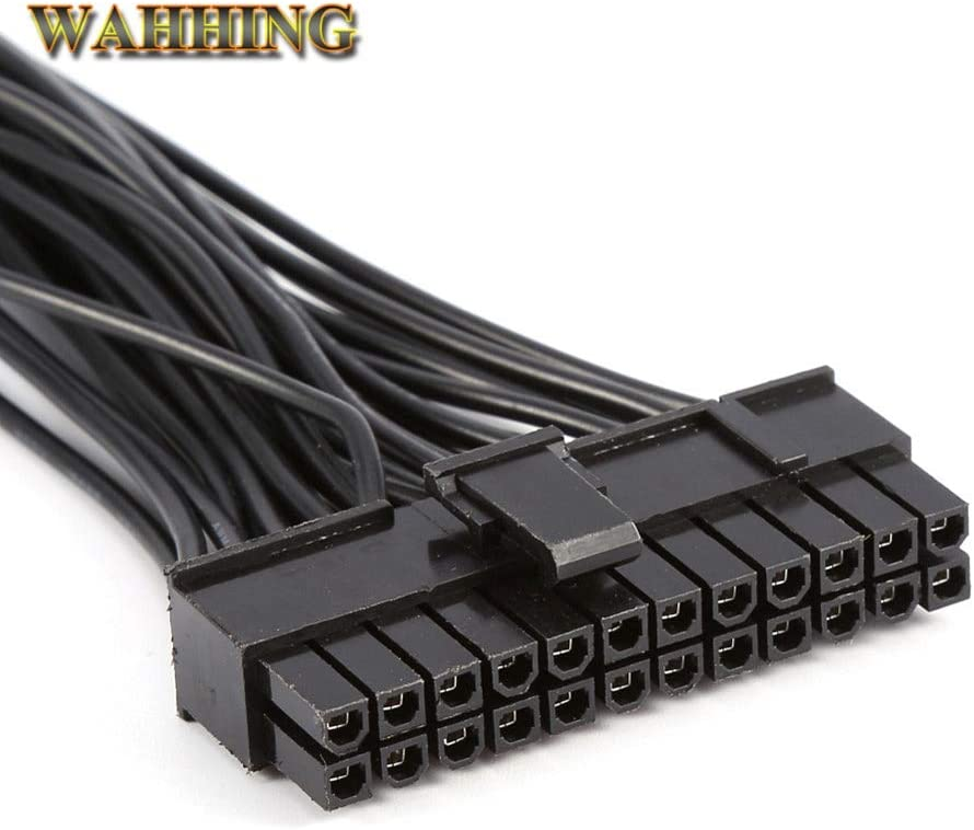 Cable Length: 30cm ShineBear ATX Mining 30cm 24 Pin Dual PSU Power Supply Extension Cable for Computer Adaptor Cable Connector for Mining 24Pin 20+4pin
