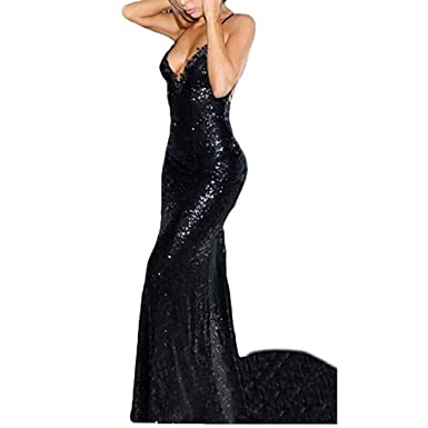 Chady Deep V-Neck Sequins Mermaid Prom Dress 2018 Long Backless Evening Gowns Bridesmaid Dresses