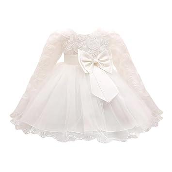 Toddler Baby Girls Long Sleeve Princess Dress Party Wedding Pageant Tutu Dresses