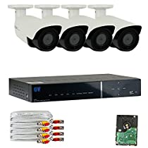 GW Security 4 Channel Hybrid HD-AHD/TVI DVR 4 x 1/2.8 2.1MP 1080P Security System 2T HD