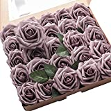 Floroom Artificial Flowers 25pcs Real Looking Dusty
