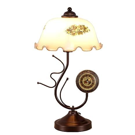 Lámpara de sobremesa clásica antigua lámpara de mesa ...