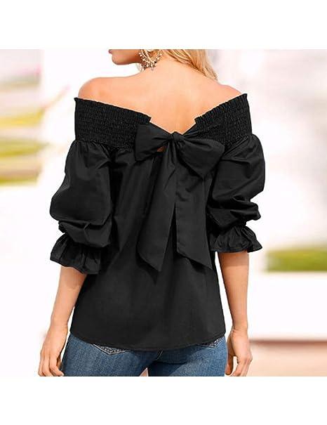 LKJI Camiseta De Mujer Camiseta De Mujer con Corbata: Amazon.es ...