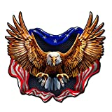 Built USA Bad Ass Eagle American Flag Decal | Permanent | Waterproof Durable American Flag Car Motorcycle Bicycle Skateboard Laptop Luggage Bumper Vinyl Decal - 12'' - 1 Pack