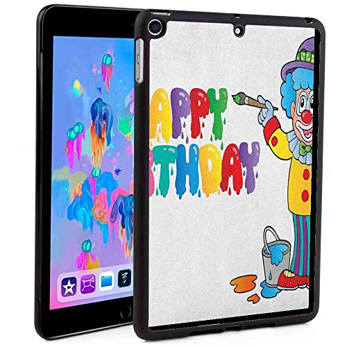 - Shockproof Case Compatible with 2018 iPad Mini 5 (2018) [7.9in] Kids Birthday,Happy Clown for Party with Colorful Painting Drawing Style Buckets Print, Multicolor