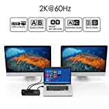 WAVLINK USB 3.0 Universal Docking Station Dual Video Monitor Display DVI HDMI VGA Gigabit Ethernet, Audio, 6 USB Ports for Laptop, Ultrabook and PCs
