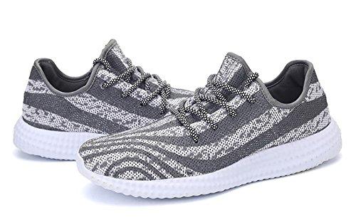AgeeMi Cordones Hombres Zapatillas Running Gimnasia Zapatos Deporte Gris Shoes De rqarwUt