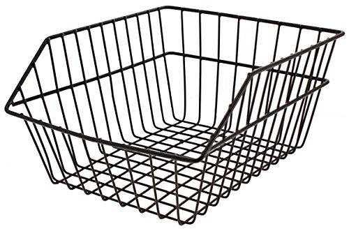 RMS Cestino posteriore, maglia larga, nero, in ferro Rear basket, coarse, black, iron