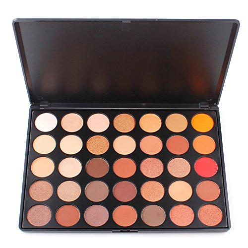 Sunsent 35 Colors Nature Glow Eyeshadow Make up Waterproof