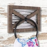 Autumn Alley Rustic Barn Door Bathroom Towel Ring