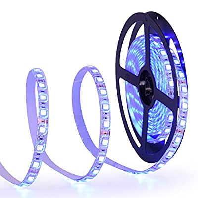 Oak Leaf 16.4ft RGB LED Strip Lights,Waterproof SMD5050 12V Flexible Strip Lights,Color Changing DIY Holiday Home Kitchen Car Bar Indoor Party Decoration,Multi-colors