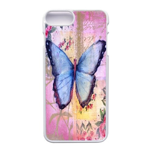 Coque,Apple Coque iphone 7 Plus (5.5 pouce) Case Coque, Generic Vintage Butterflies Cover Case Cover for Coque iphone 7 Plus (5.5 pouce) blanc Hard Plastic Phone Case Cover